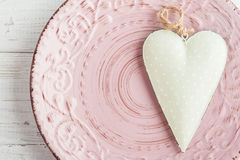 Table setting with heart Stock Photos