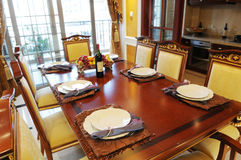 The table setting at home Stock Photo