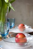 Table Setting at a Home. Festive Table Setting at a Home Stock Images