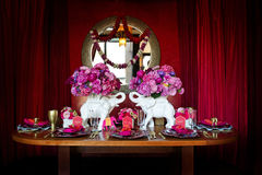 Table setting for Indian wedding