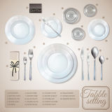 Table Setting Infographics Royalty Free Stock Images
