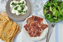 Table Setting for Italian Dinner Royalty Free Stock Photos