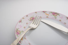 Table setting, language cutlery stock photography
