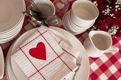 Table setting for lovers Royalty Free Stock Image
