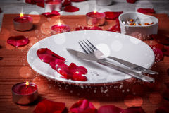 Table setting for lovers Royalty Free Stock Photo