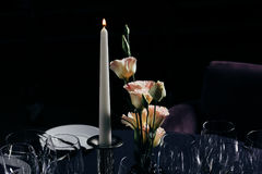 Table setting for a lovey dinner/ table setting/ table setting Stock Photos