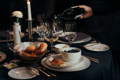 Table setting for a lovey dinner/ table setting/ table setting Royalty Free Stock Images