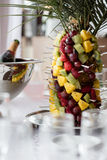 Table setting at a luxury wedding reception. Stock Photo
