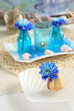 Table setting in maritime styl Royalty Free Stock Photography