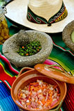 Table setting: Mexican style stock image