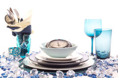 Table Setting for New Year Stock Photography