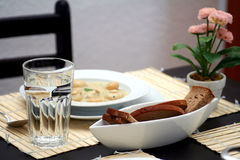 Table setting for one Royalty Free Stock Images