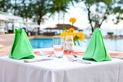 Table setting outdoor Royalty Free Stock Photography