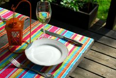 Table setting outside Stock Photos