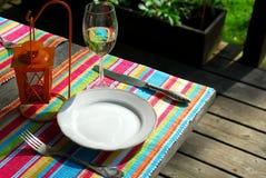 Table setting outside Stock Photos