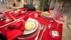Table setting. stock video footage
