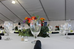 Table setting. A picture of a table setting royalty free stock photo