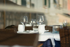 Table setting prepared for lunch Stock Photography