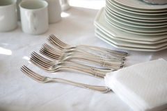 Table setting ready Stock Images