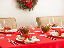 Table setting with real tree decoration Royalty Free Stock Photography