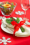 Table setting with real tree decoration Stock Photography