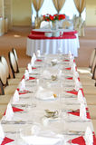 Table setting in the restaurant Royalty Free Stock Images