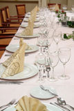 Table setting restaurant royalty free stock image
