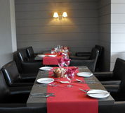 A table setting at restaurant. Stock Photo