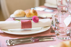 Table setting in a restaurant Stock Photos