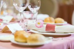Table setting in a restaurant Stock Images
