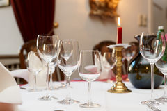 Table setting in a restaurant Stock Photography