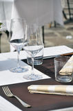 Table Setting in a restaurant Royalty Free Stock Images