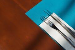 Table setting in restaurant Stock Image