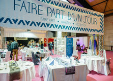Table setting at Salon du Marriage wedding fair France Royalty Free Stock Image