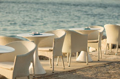 Table setting by the sea Stock Photos