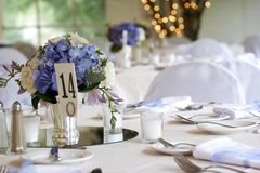 Table setting - series. Table setting for a wedding royalty free stock photography