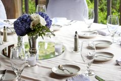 Table setting - series. Table set for fine dinning stock image