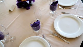 Table Setting stock video
