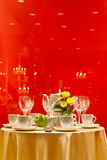 Table setting for special events on display Royalty Free Stock Image