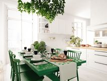 Table setting for St Patricks Day. holiday concept. 3d rendering Royalty Free Stock Images