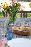 Table setting in summer house Royalty Free Stock Photos