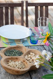 Table setting in summer house Royalty Free Stock Photo