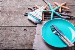 Table setting for summer. Royalty Free Stock Images