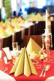 Table setting for a sumptuous evening dinner. Table setting for a sumptuous evening dinner Stock Images