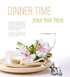 Table setting template Stock Photo
