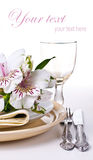 Table setting template Stock Image