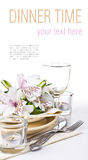 Table setting template Royalty Free Stock Images
