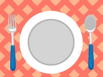 Table Setting in Top View Royalty Free Stock Photo