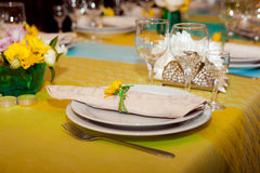 Table setting view Stock Photo