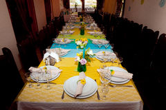 Table setting view Royalty Free Stock Photos